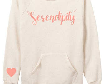Serendipity Off The Shoulder Cream Sweatshirt with Coral