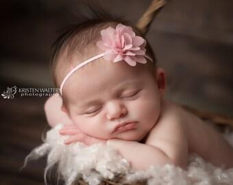FREE SHIPPING! Newborn Headband, Antique Pink Headband, Pink Headbands, Pink Baby Headband, Pink Newborn Headband, Baby Girl Headband
