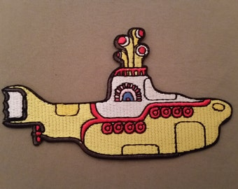 the beatles yellow submarine embroidered patch