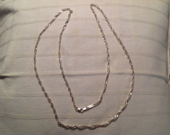 "Vintage Sterling Silver 36"" Chain Necklace"