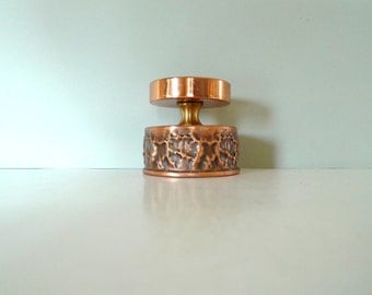 Copper Votive Candle Holder - Norway 1960s mid century modern rustic candle holders