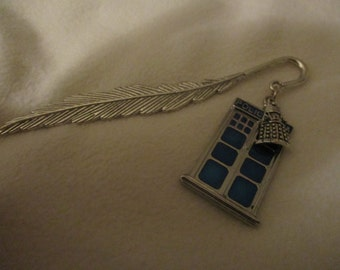 Doctor Who inspired Tardis and Dalek bookmark