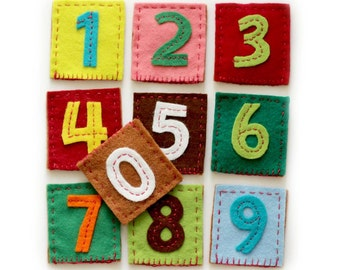 Finger puppets - NUMBERS (set of 10) Finger Puppets, puppet theater, Felt finger puppet, Waldorf toy, Montessori toy, party toy