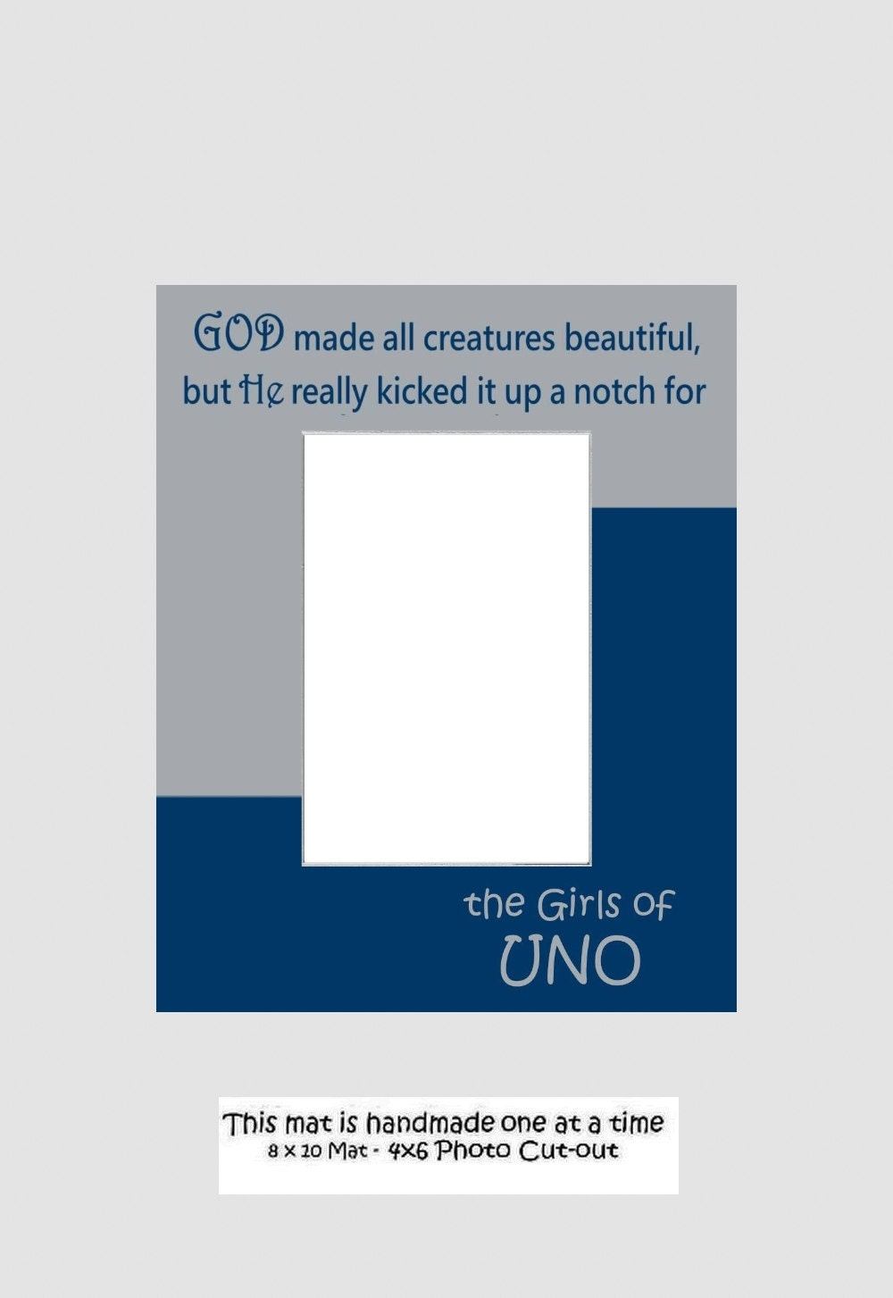 University Of New Orleans Uno Girls Or Grads Picture Frame