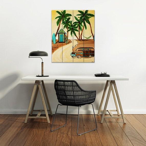 Items similar to wood wall art surf decor surf art for Beachy decor items
