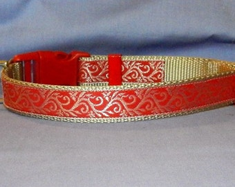 Red and Silver Holiday collar