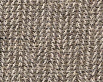 Herringbone Boyle Brown fabric weave