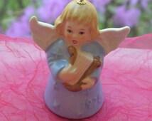 Vintage Goebel Angel Bell - Baby Blue, Porcelain, W Germany, 3rd Edition - 1978 -Fabulous!