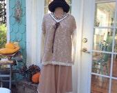Woodland Sweater Latte and Cream Mori Girl Enchanting