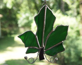 Stained Glass Fall Leaf Suncatcher