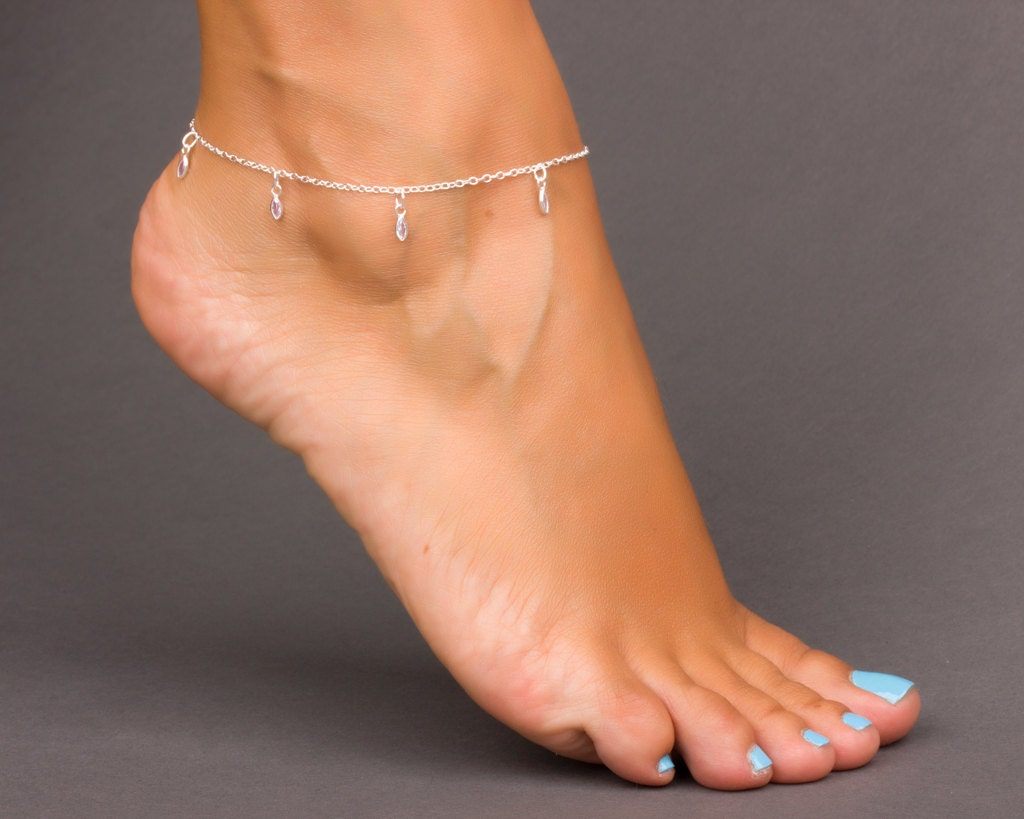 flop over platinum accent bracelet diamond ring sterling ankle anklet silver set and flip toe