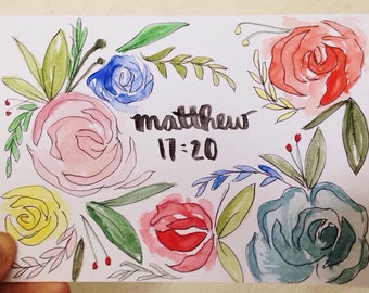 Personalized Floral Watercolor Stationery