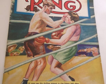 The Ring Magazine Boxing Graziano Zale October 1947