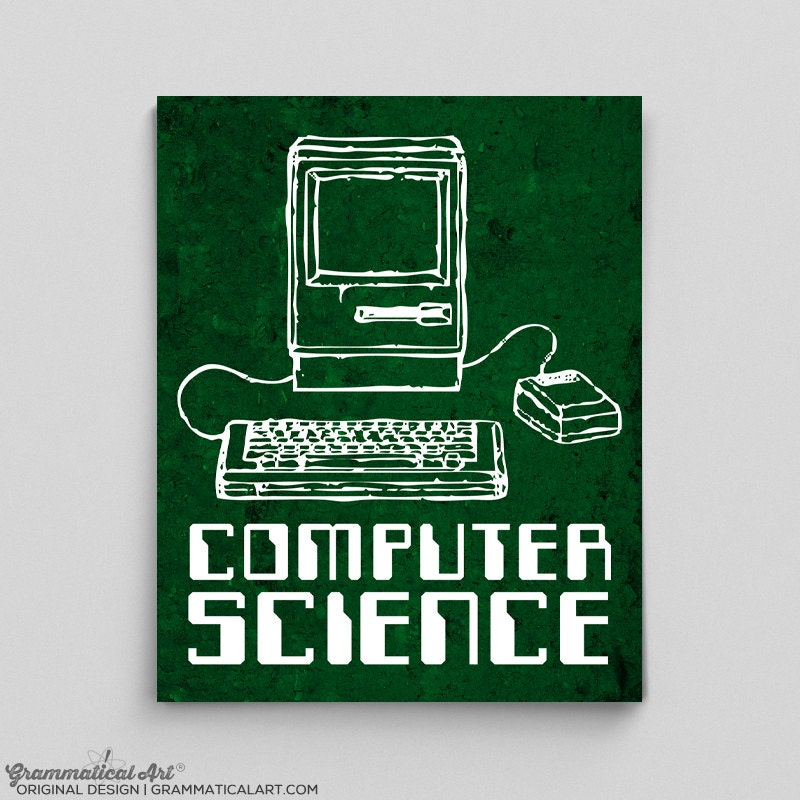 Old Computer Science Computer Programming Computer Poster