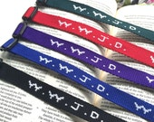 Blue - Wwjd Bracelet, Bible Journaling, Bookmark
