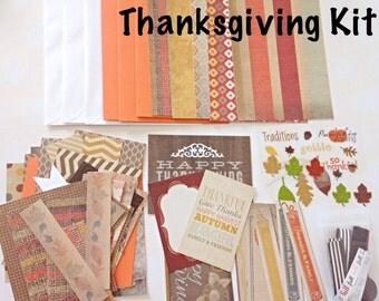 Thanksgiving Card Making Kit - Kid's Card Making Kit, Thanksgiving Activity Kit, Fall Craft Kit, DIY Card Making Kit, Children's Craft Kit