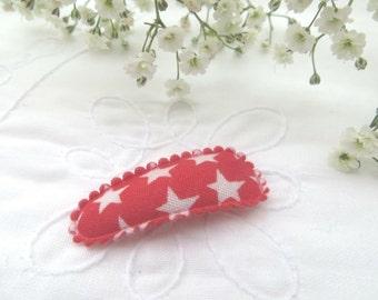 Red star mini snap clip