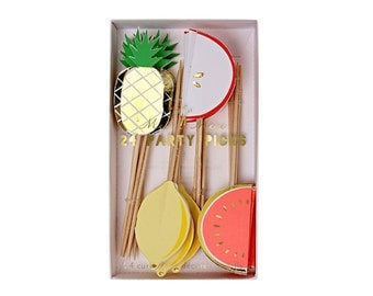 Fruit Party Picks by Meri Meri, Fruit Party Collection, Party Decorations, Party Supplies, Tableware