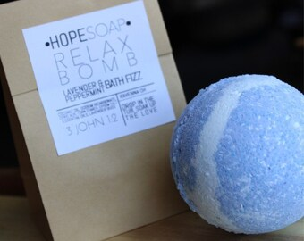 Lavender + Peppermint Bath Bomb