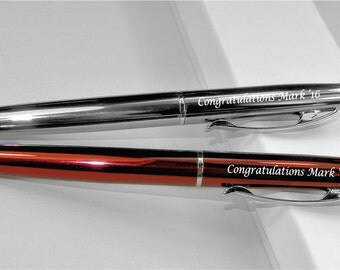 Personalized Gunmetal & Burgundy  Enamel Ballpoint Pens Custom Engraved Free, Groomsmen, Father, Graduation Gift, Teacher Gift
