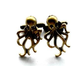 Octopus Cuff Links Kraken Men's Gift Cthulhu Handmade Gift