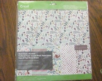 CRICUT WASHI SHEETS/Woodland/Five Sheets of 12 x 12 Washi by Cricut