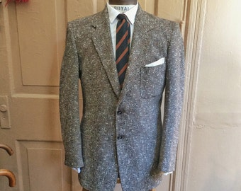 1950s Fleck Wool Tweed Patch Pocket Sport Coat. Size 38 2010