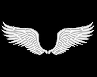 Wings Bird Angel Embroidery Design