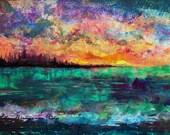 Abstract Seascape fine art print by Ellen Brenneman titled: Home
