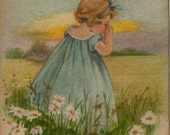 Heart Warming 1915 Lost Greeting Postcard From Edwardian Era Shares Missing You Theme Divided Back Includes Vintage Postage Stamp