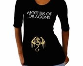 """Maternity  """"Mother of Dragons"""" Maternity Shirt- pregnancy announcement shirt, Maternity clothes- pregnant shirt- funny maternity saying"""