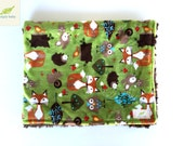 Woodland Forest Double Minky Blanket