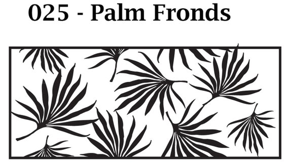 Kor Tools -025 Palm Fronds texture roller for polymer clay you keep the design rolling