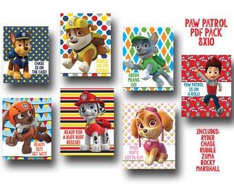 Paw Patrol PDF Printable Pack - 8x10