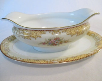 Vintage Noritake China Batista Gravy Boat with Imperfection