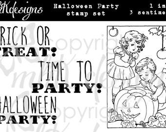 Halloween Party Digital Stamp Set