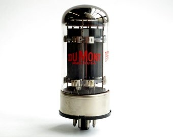Dumont branded Tung Sol 6080WB graphite plate vacuum tube - beefy dual triode - slotted carbon anode - MINT!!!!!