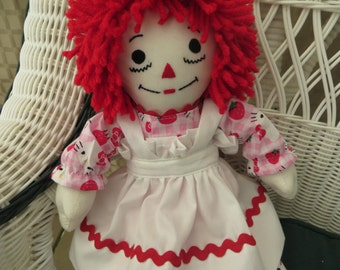 Hello Kitty  Mini Personalized Raggedy Ann Doll 15 inches tall Handmade in USA
