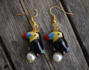 ceramic bead earrings Tucano