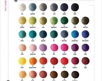 250 pieces x 2cm FELT balls beads 2cm BEST price FREE shipping