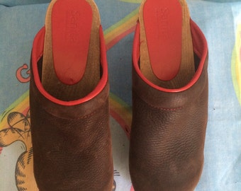 Sanita leather clogs size 39
