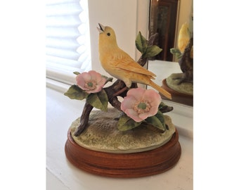 Vintage Yellow Canary Figurine by Andrea by Sadek
