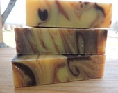 EXOTIC ORANGE Solid Shampoo Bar - Cold Process Essential Oil Soap - Patchouli and Tangerine Swirl