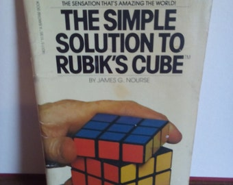 SALE Reduced Price Vintage 1981 The Simple Solution To Rubik's Cube by James G.Norse Book
