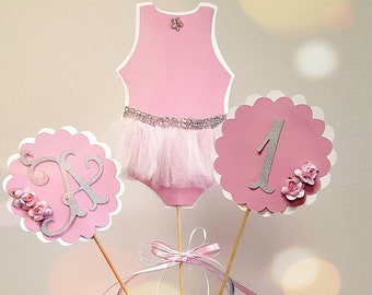 bailarina centerpiece-cutouts-first birthday