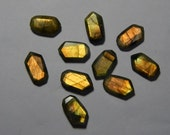 100% Natural Labradorite Gemstone Faceted Cabochon Fancy Shape Yellow & Coper Power Flash Gemstone Supplies New Arrival