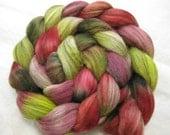 Berries & Brambles - Merino roving in green, pink, red