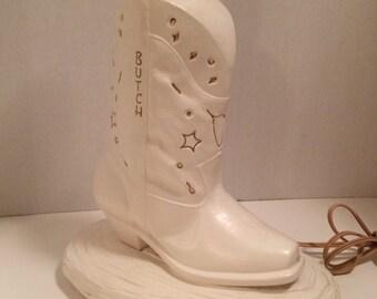 Vintage Cowboy Boot Lamp