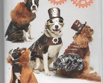 1031 Simplicity Steampunk Dog Costumes Sewing Pattern Sizes S-L
