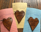 Leather Heart Badge